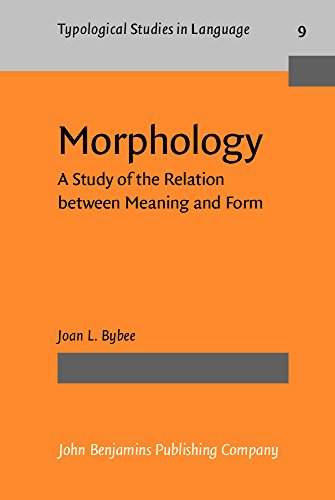 9780915027378: Morphology: A Study of the Relation between Meaning and Form (Typological Studies in Language)