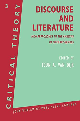 9780915027552: Discourse and Literature: New Approaches to the Analysis of Literary Genres (Critical Theory)