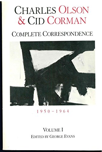 9780915032143: Charles Olson & Cid Corman: Complete Correspondence, 1950–1964, Volume 1