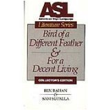 9780915035151: ASL Birds of a Different Feather & For a Decent Living [VHS]