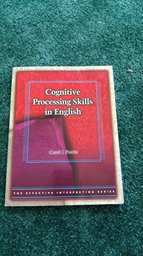 9780915035755: Cognitive Processing Skills in English (Effective Interpreting)