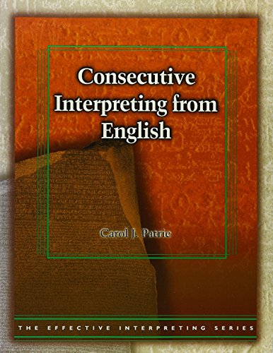 9780915035908: Consecutive Interpreting from English (Book & DVD)
