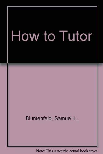 9780915134212: How to Tutor