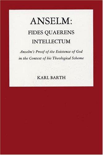 9780915138098: Anselm: Fides Quarens Intellectum (Pittsburgh reprint series)
