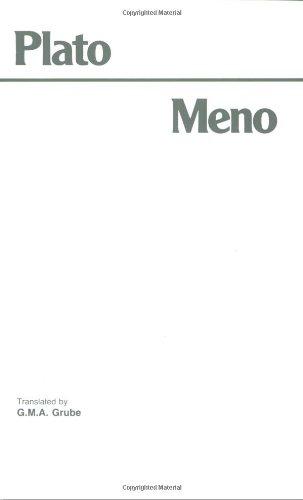9780915144242: Meno (Hackett Classics)