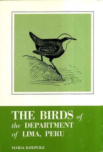 9780915180110: Birds of the Department of Lima, Peru