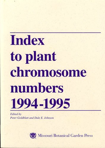 9780915279593: Index to Plant Chromosome Numbers 1994-1995