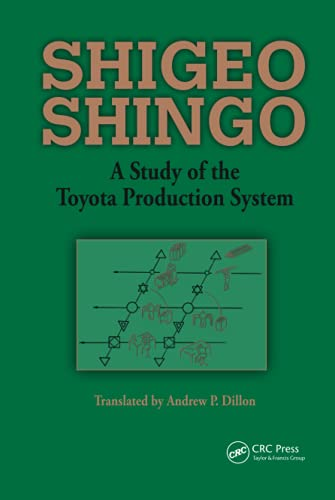 9780915299171: A Study of the Toyota Production System: From an Industrial Engineering Viewpoint (Produce What Is Needed, When It's Needed)