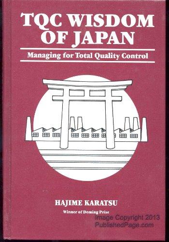 TQC Wisdom of Japan Managing for Total: Hajime Karatsu