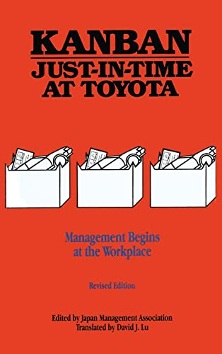 9780915299485: Kanban Just-in Time at Toyota: Management Begins at the Workplace (Volume 1)