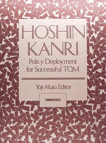 9780915299577: Hoshin Kanri (c): Policy Deployment for Succesful TQM