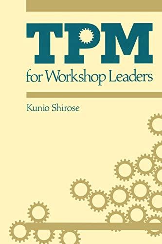 9780915299928: TPM for Workshop Leaders (The Shopfloor Series)
