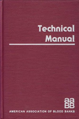 9780915355068: Technical Manual American Association Blood Banks 1985