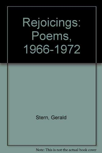 9780915371006: Rejoicings: Poems, 1966-1972