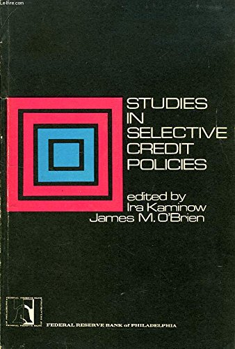 9780915484010: Studies in selective credit policies