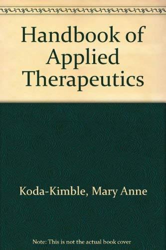 9780915486168: Handbook of Applied Therapeutics