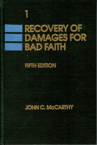 9780915544219: Recovery of Damage For Bad Faith