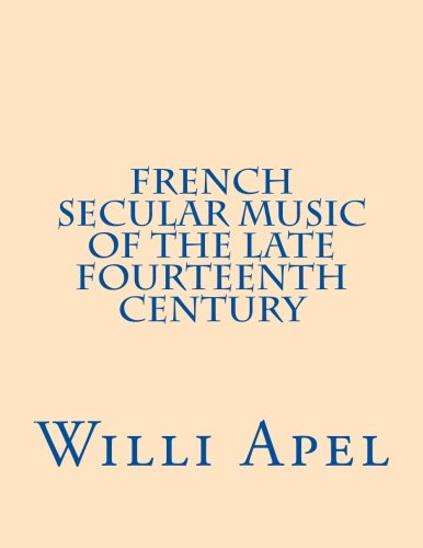 9780915651146: French Secular Music of the Late Fourteenth Century
