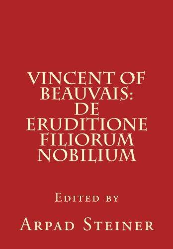 9780915651368: Vincent of Beauvais: De eruditione filiorum nobilium