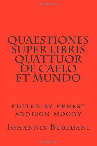 9780915651481: Quaestiones super Libris quattuor de caelo et mundo