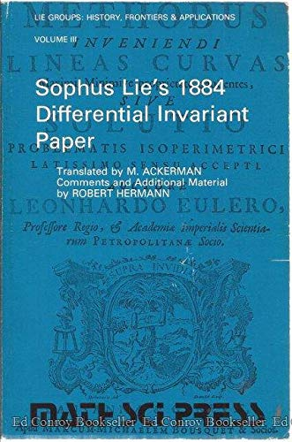 9780915692132: Sophus Lie's 1884 Differential Invariant Paper, Vol. 3