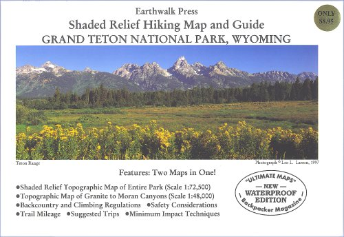 Grand Teton National Park Hiking Map: Larson, Leo L.