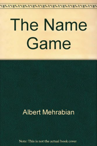 9780915765751: Title: The name game The decision that lasts a lifetime