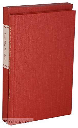 Clear Sky, Pure Light: Thoreau, Henry David