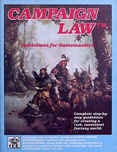 Campaign Law (Rolemaster (1st Edition)): Peter Fenlon, John Ruemmler