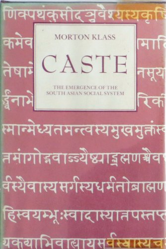 9780915980970: Caste: Emergence of the South Asia Social System