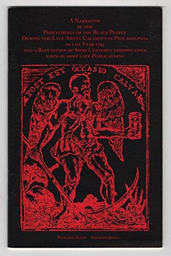 A Narrative of the Proceedings of the: Allen, Richard; Jones,