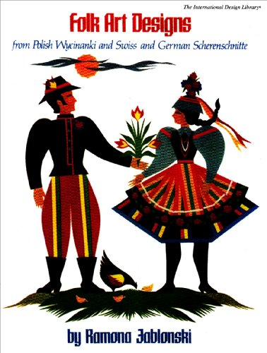 9780916144333: Folk Art Designs from Polish Wycinanki and Swiss and German Scherenschnitte