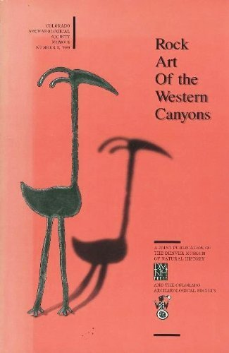 9780916278663: Rock Art of the Western Canyons (Memoir / Colorado Archaeological Society)