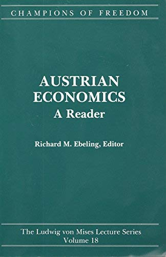 9780916308827: Champions of Freedom: Austrian Economics : A Reader