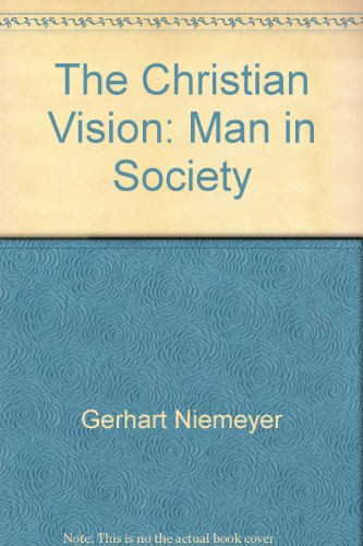 Christian Vision Man In Society: Morris, Lynne