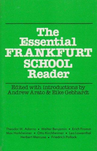 9780916354305: The Essential Frankfurt School Reader