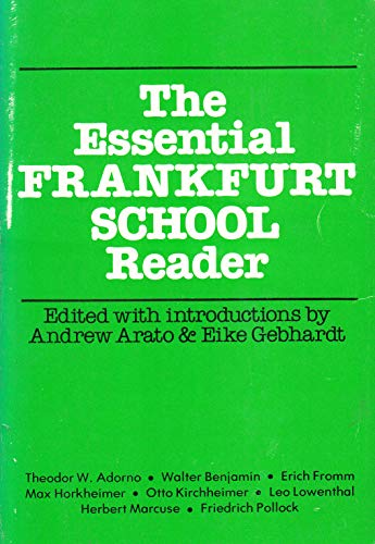 9780916354312: The Essential Frankfurt School reader