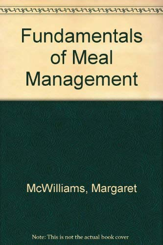 9780916434328: Fundamentals of Meal Management