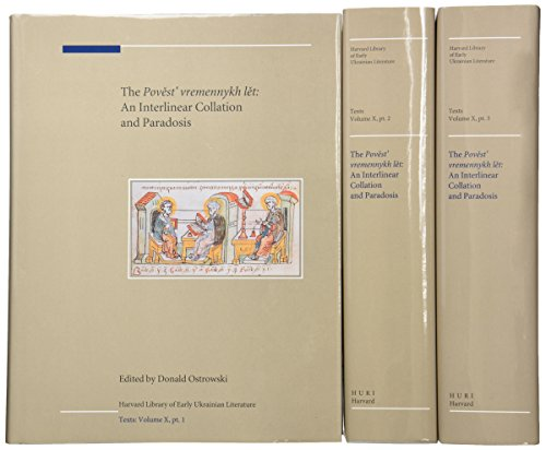 9780916458911: Texts: The Povest' vremennykh let: An Interlinear Collation and Paradosis, with David Birnbaum and Horace G. Lunt (Harvard Ukrainian Research Institute Publications)