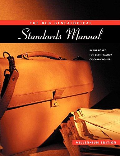 9780916489922: The BCG Genealogical Standards Manual
