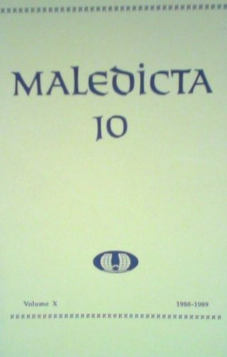 9780916500306: Maledicta 10 (1988-89): The International Journal of Verbal Aggression, vol. 10.