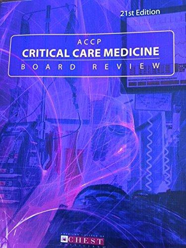 9780916609979: ACCP Critical Care Medicine Board Review: 21st Edition