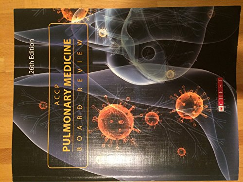 9780916609986: ACCP Pulmonary Medicine Board Review: 26th Edition