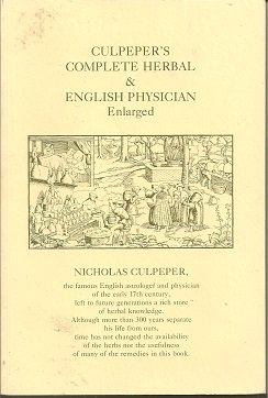 Culpeper's Complete Herbal and English Physician (0916638200) by Nicholas Culpeper
