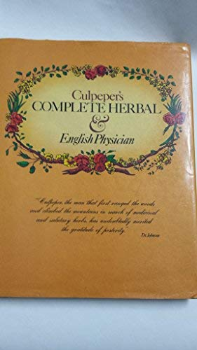 Culpeper's Complete Herbal & English Physician: Culpeper, Nicholas