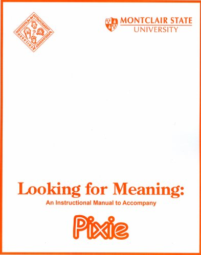 9780916834364: Looking for Meaning: Instructional Manual to Accompany Pixie