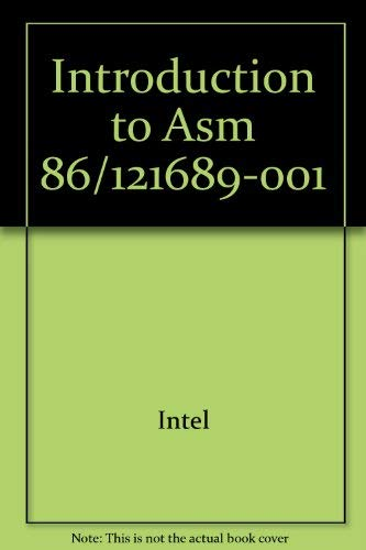 9780917017049: Introduction to Asm 86/121689-001