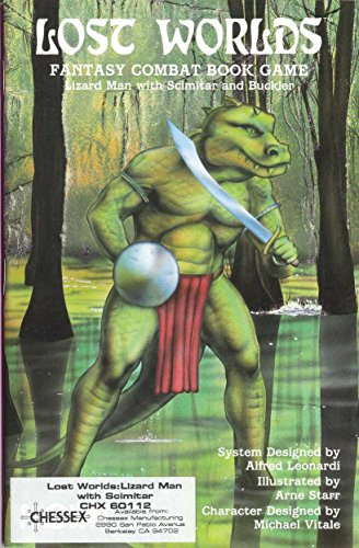 Lizard Man with Scimitar and Buckler (Lost Worlds Combat Fantasy Book Game (Flying Buffalo)): ...