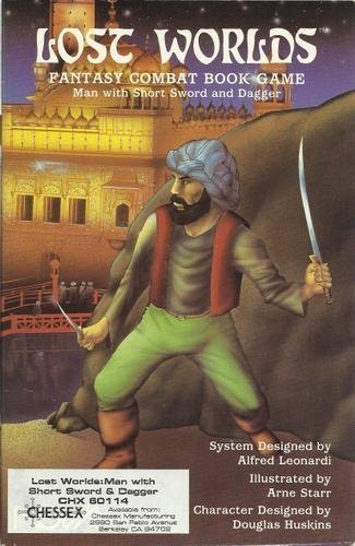 9780917037399: Lost Worlds Fantasy Combat Book Game: Man with Short Sword and Dagger (1014)