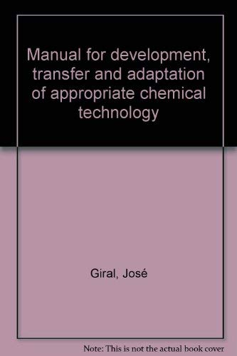 Manual for development, transfer and adaptation of: Jose Giral
